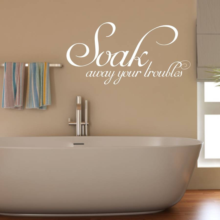 soak bathroom wall sticker by mirrorin in the bathroom wall sticker wall stickers
