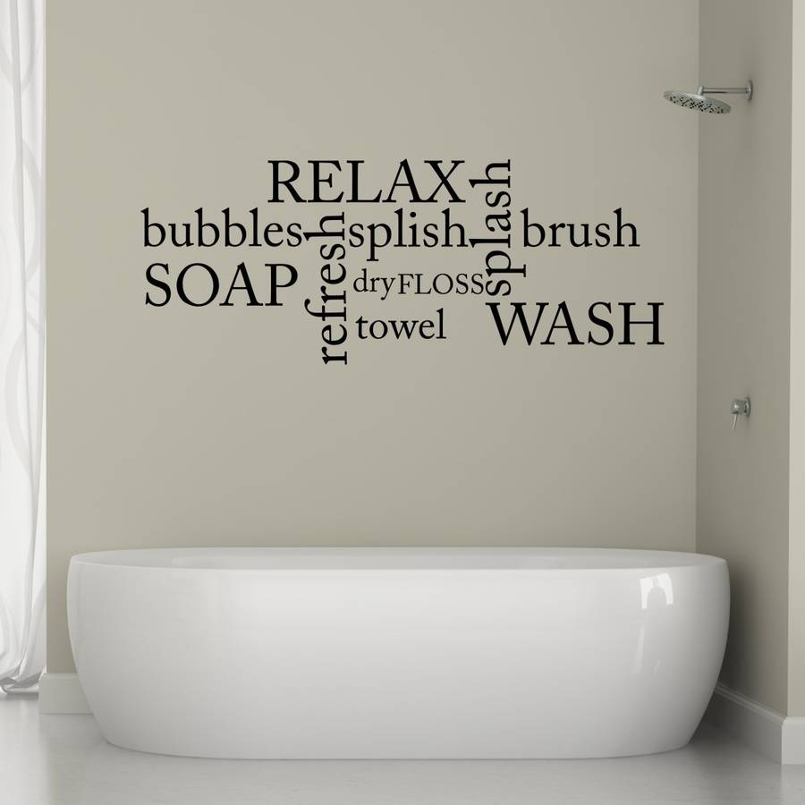 Bathroom Word Cloud Wall Sticker   Decorative Accessories Part 21