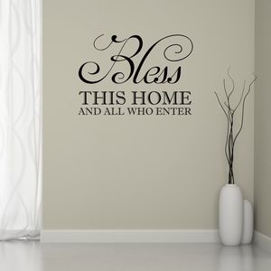 Bless This Home Wall Sticker - wall stickers