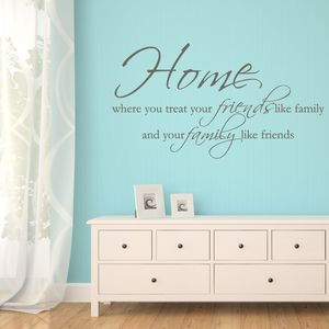 Home Quote Wall Sticker