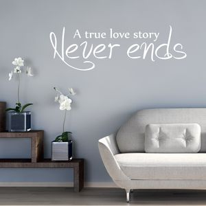 Love Story Quote Wall Sticker