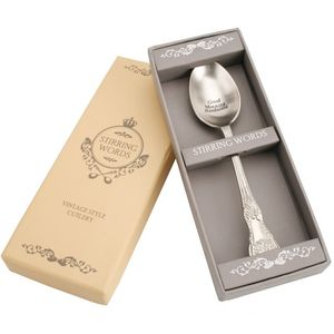 'Good morning handsome' Engraved Spoon