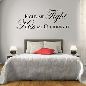 Hold Me Tight Quote Wall Sticker