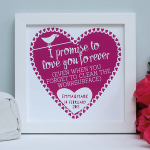 Personalised Alternative Vows Framed Print