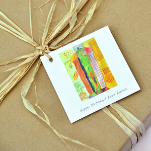 Bespoke Children's Artwork Gift Tags