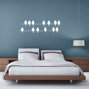 Birds On A Wire Vinyl Wall Sticker