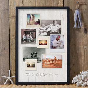 Personalised Vintage Style Photo Print - gifts from the family