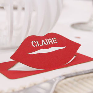 Personalised Lip Table Name Place Card