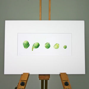 Brussels Sprouts Print - contemporary art