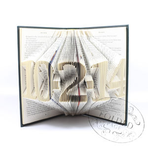 Special Date Folded Book Decoration