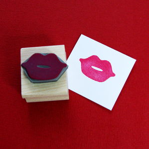 Luscious Lips Rubber Stamp - wedding stationery