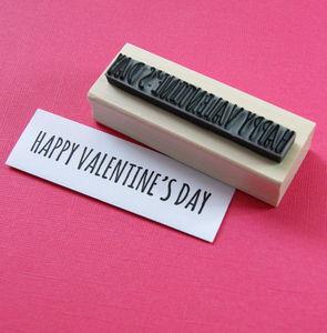 Happy Valentine's Day Rubber Stamp