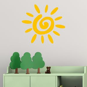 Sun Vinyl Wall Sticker - wall stickers