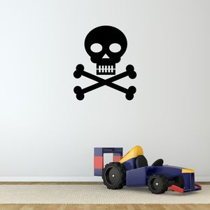 Skull And Crossbones Vinyl Wall Sticker - wall stickers
