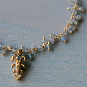 Little Labradorite Charm Necklace - global inspired