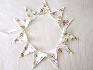 Rose Floral Mini Bunting ~ Various Designs - outdoor decorations