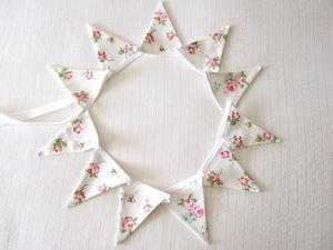 Rose Floral Mini Bunting ~ Various Designs
