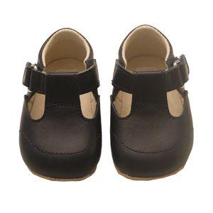 Handmade Navy T Bar Baby Shoes - clothing