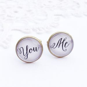 Vintage Style 'You And Me' Cufflinks - cufflinks