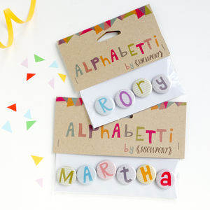Alphabet Initial And Name Badges - table decorations