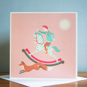 The Fox And The Rocking Horse Greetings Card