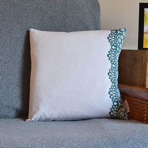 Lace Print Cushion - patterned cushions