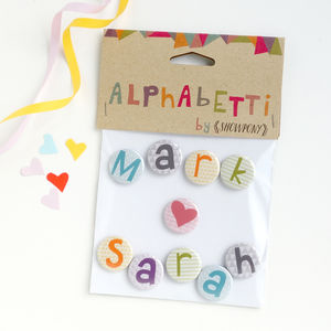 Valentines Gift, Personalised Magnets - anniversary cards