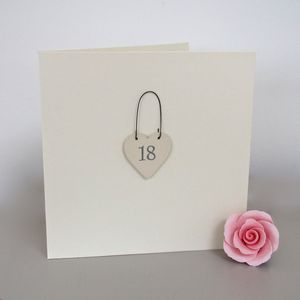 '18th' Handmade Birthday Card