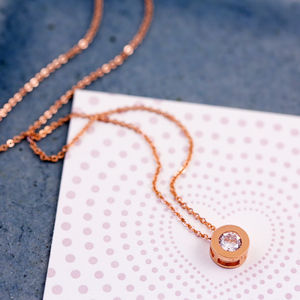 Round Solitaire Necklace - necklaces & pendants