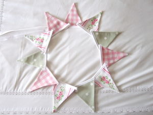 Floral Stripe Mini Bunting - outdoor decorations