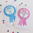 Birthday Card With Personalised Badge