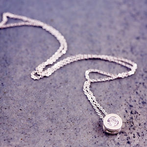 Round Solitaire Necklace - summer sale