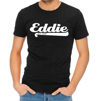 Adult Personalised Name And Year T-Shirt