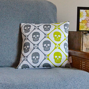 Skully Cushion - patterned cushions