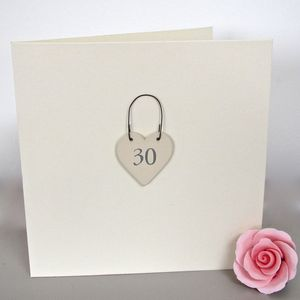'30th' Handmade Birthday Card
