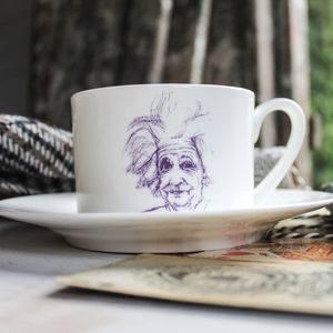 Albert Einstein Cup And Saucer - cups & saucers