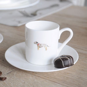 Terrier China Espresso Cup And Saucer
