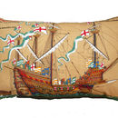 Vintage Mary Rose Ship Cushion