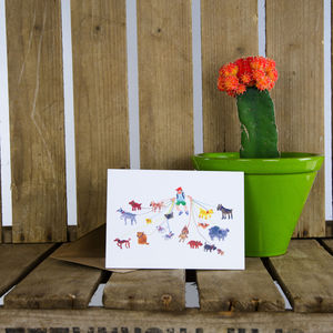 'Dog Walker' Greeting Card