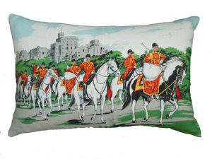 Vintage Horse Guards Cushion