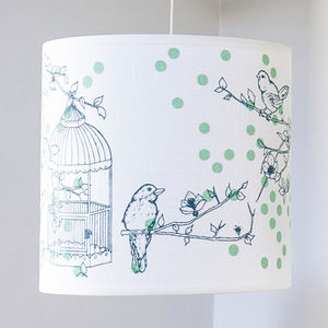 Dotty Bird Ceiling Shade, Teal