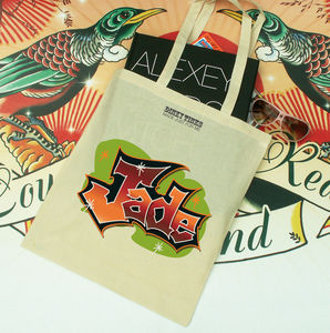 Tween Tote Graffiti Design - personalised