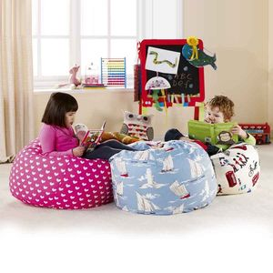 Child's Large Fabric Beanbag - children's room