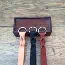 Leather Twist Key Ring