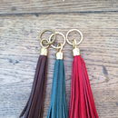 Handmade Leather Tassel Key Ring