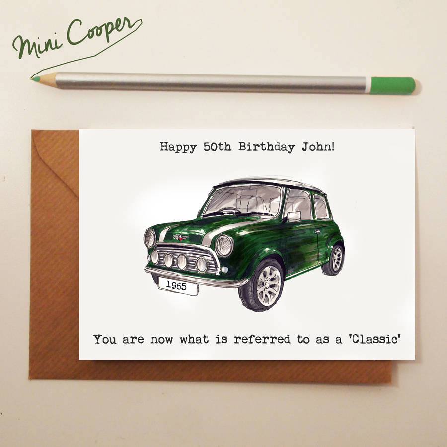 Classic Car Birthday Card By Homemade House