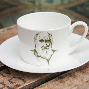Charles Darwin Cup And Saucer - kitchen