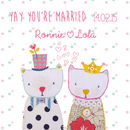 Personalised 'Yay You're Married' Card