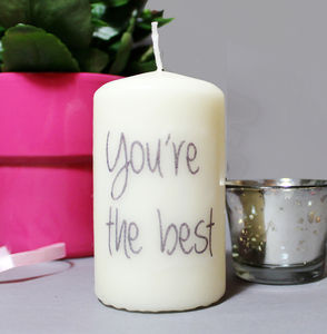 Personalised 'You're The Best' Quote Candle