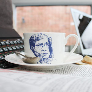 Stephen Hawking Cup And Saucer - kitchen